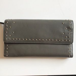 "New MZ Wallace ""Katherine"" Leather Studded Wallet"